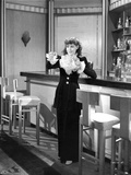 Frances Dee posed in Maid Outfit in Black and White Photo by  Movie Star News