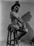 Betty Grable Seated on a Chair with Hands Forward Rested Together on the Lap on Strap Dress with Fu Photo by  Movie Star News