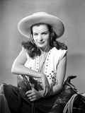 Ella Raines smiling in Cowgirl Attire Photo by  Movie Star News