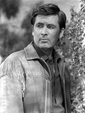 Fess Parker Leaning in Leather Jacket Photo af  Movie Star News