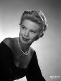 Betsy Palmer Portrait in Pearl Necklace and Long Sleeve Strapless Column Dress Photo by  Movie Star News