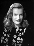 Ella Raines Portrait in Embroidered Top Photo by  Movie Star News