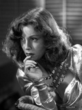 Frances Dee Thinking in A Portrait in Black and White Photo by  Movie Star News
