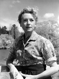 Deborah Kerr on a Printed Top and posed Photo by  Movie Star News