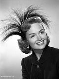 Donna Reed smiling in Black and White Photo by  Movie Star News