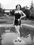 Colleen Moore on a Swimsuit standing on a Dive Board Photo by  Movie Star News