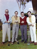 Group Picture With Bob Newhart Holding Golf Bat Photo by  Movie Star News
