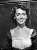 Barbara Rush smiling in Elegant Dress with Pearl Necklace Photo by  Movie Star News