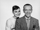 Audrey Hepburn and Fred Astaire posed in Portrait in Formal Attire Photo by  Movie Star News