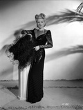 Claire Trevor Posed in Black Dress while Holding Black Pillow Photo by  Movie Star News