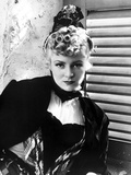 Claire Trevor Posed in Black Dress with Curly Hair Style Photo by  Movie Star News