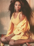 Donna Summer Posed in Yellow Outfit Portrait Photo by  Movie Star News
