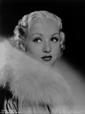 Betty Grable Portrait Looking to the Right in Fur Pelt Boa on the Shoulder and White Cotton Long Sl Photo by  Movie Star News