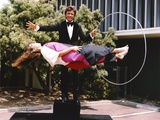 Bill Bixby Perfuming Lady Float with Ring Magic Trick Photo by  Movie Star News