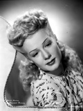 Betty Hutton on Printed Dress Portrait Photo by  Movie Star News