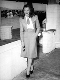 Ella Raines standing in Classic Photo by  Movie Star News