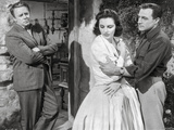 Brigadoon Lady in Ball Gown with Two Men Photo by  Movie Star News