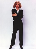 Barbara Mandrel standing in Black Suit Photo by  Movie Star News