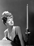 Claire Trevor Looking Up in Black Lingerie Classic Portrait Photo by  Movie Star News