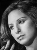 Barbra Streisand Look Away Pose in Black and White Photo by  Movie Star News
