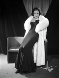 Ethel Merman Seated in Classic with Feather Coat Photo by  Movie Star News