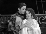 Bebe Daniels Leaning Back on the Man's Chest in White Long Sleeve Linen Dress Photo by  Movie Star News