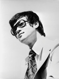 Bruce Lee Posed in Suit and Printed Necktie Photo by  Movie Star News