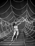 Debbie Reynolds Spreading Her Hand in Checkered Top on a Spider Web Photo by  Movie Star News