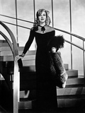 Ginger Rogers Posed Holding Fur Coat with Black Gown Outfit Photo by  Movie Star News