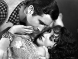 Bebe Daniels Resisting on a Man Trying to Kiss Her in White Dress Photo by  Movie Star News