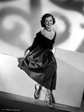 Barbara Hale on an Off-Shoulder Dress sitting and smiling Portrait Photo by  Movie Star News