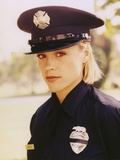 Christine Elise in Police Uniform Close Up Portrait Photo by  Movie Star News
