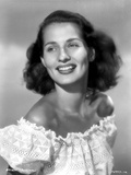 Brenda Marshall on a Ruffled Off Shoulder Top Photo by  Movie Star News