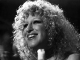 Bette Midler Portrait smiling Looking Up in White Short Sleeve Dress Photo by  Movie Star News