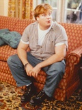 Chris Farley sitting on Couch Candid Photo Photo by  Movie Star News