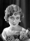 Dolores Costello Portrait in Black and White with Flowers Photo by  Movie Star News