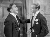 Damsel In Distress Two Men Talking in Suit Photo by  Movie Star News