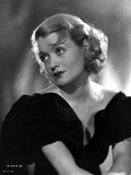 Constance Bennett on Off Shoulder Dress sitting Portrait Photo by  Movie Star News