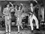 Damsel In Distress Dancing in Black and White Photo by  Movie Star News
