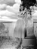 Dorothy Malone on Dress Leaning and posed Photo by  Movie Star News