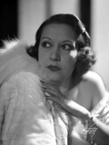 Ethel Merman Looking Up in Feather Coat Photo by  Movie Star News
