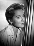 Deborah Kerr Looking Away in White Coat Photo by  Movie Star News