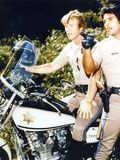 Chips Movie Scene in Police Uniform with Motorcycle and Pistol Photo by  Movie Star News