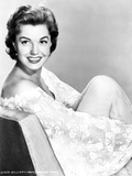 Esther Williams on Embroidered Flower Mesh sitting on Chair Photo by  Movie Star News
