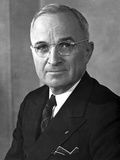Harry Truman Close Up Portrait in Classic Photo by  Movie Star News