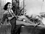 Hedy Lamarr Lying in Midriff with Necklace Photo by  Movie Star News