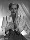 Frances Farmer on a Silk Top and Holding a Glass Photo by  Movie Star News