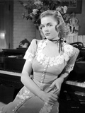 Dorothy McGuire on an Embroidered Dress sitting and posed Photo by  Movie Star News