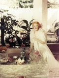 Greer Garson in a White Gown Portrait Photo by  Movie Star News