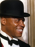 James Jones Close Up Portrait in Black Suit and Black Bow Tie with Velvet Bowler Hat Photo by  Movie Star News